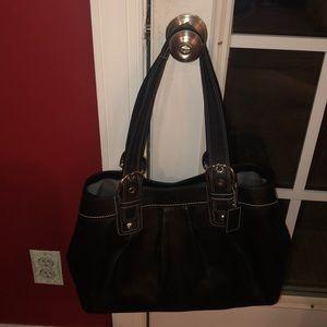 Black Leather Coach Bag
